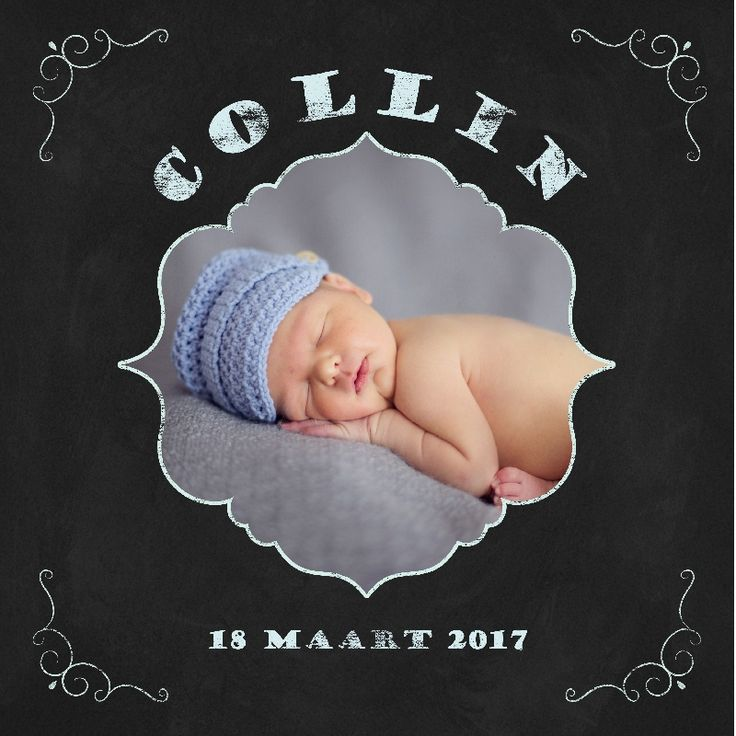 Geboortekaartje Collin - www.babyjewels-geboortekaarten.nl