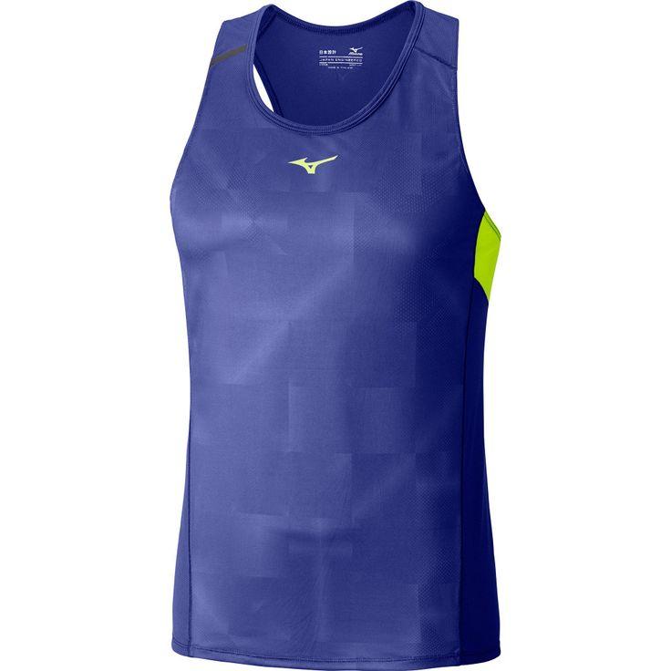 Buy Men's Mizuno Premium Origami Singlet in Blue   Run and Become    Specialist Running Shop