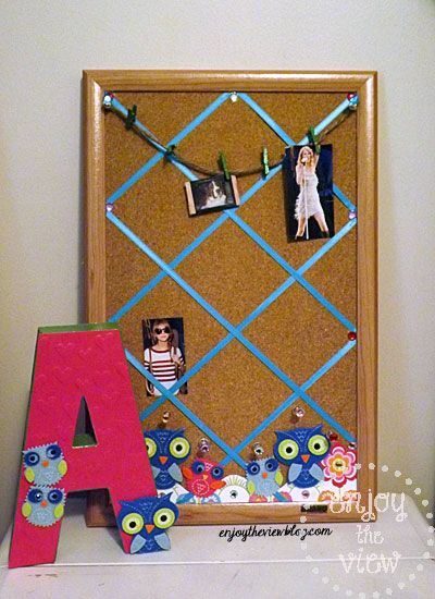 Ribbon Cork Board Crafts For Teens College Dorm Crafts