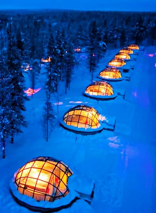 Rent a Glass Igloo in Finland to Watch the Northern Lights.