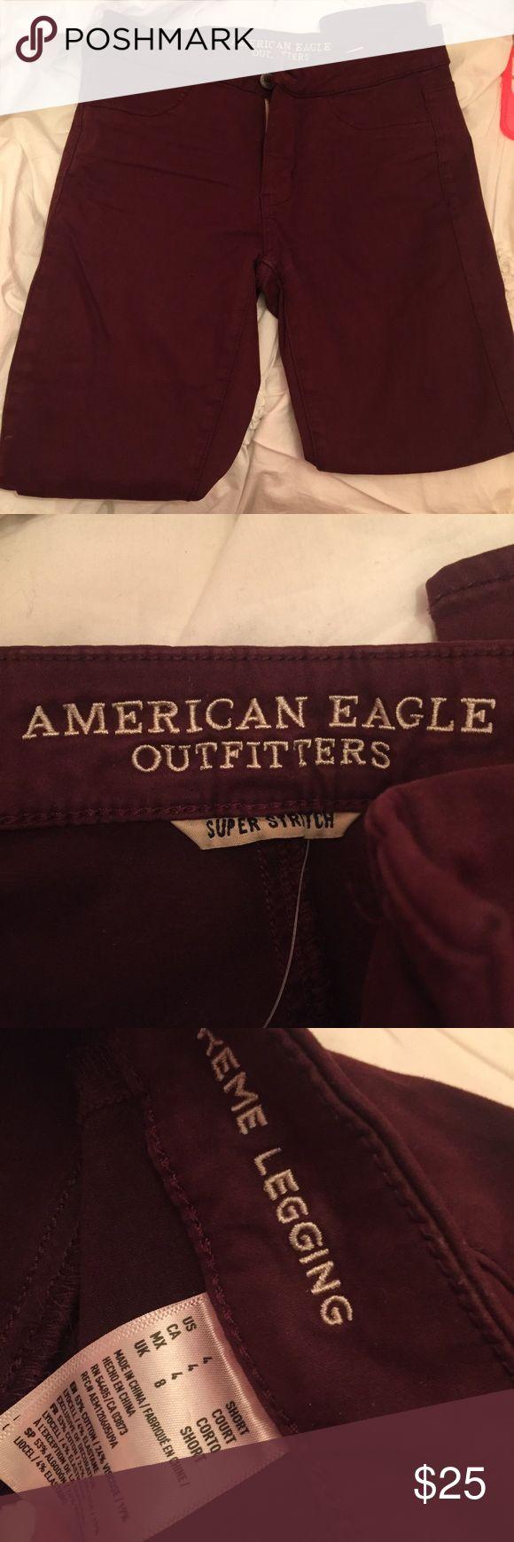 American Eagle Maroon jegging Cute maroon extreme legging pants American Eagle Outfitters Pants Leggings