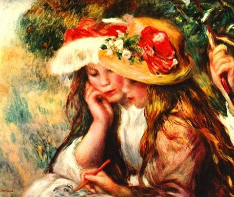 KPIX | Due fanciulle leggono in un giardino