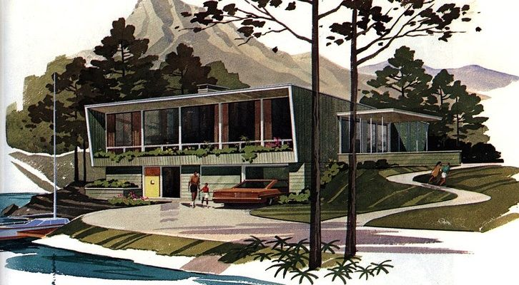 Here is a fun Flickr site to get lost in. A collection of 115 mid-century modern house plans gathered up from a variety of vintage magazines, trade journals and newspapers. An excellent starting point for gathering ideas if you are planning your dream home. Need a closer look at those plans, don't worry on the Flickr page you have the option of downloading a larger image. So if you are having trouble deciphering the details you can get a closer look.