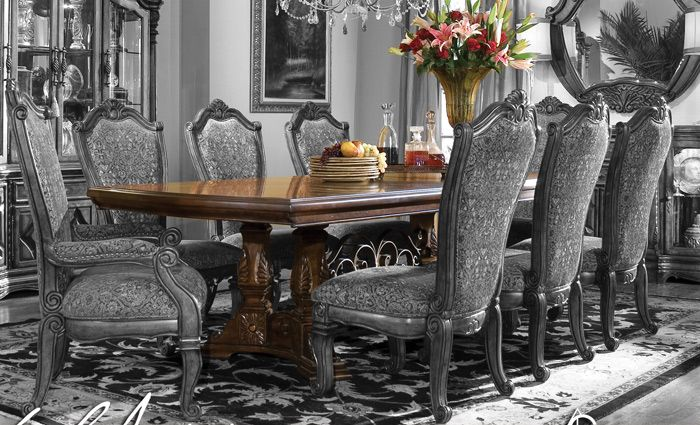 Victorian dining room furniture 178 victoria brown wood for Dining room tables victoria