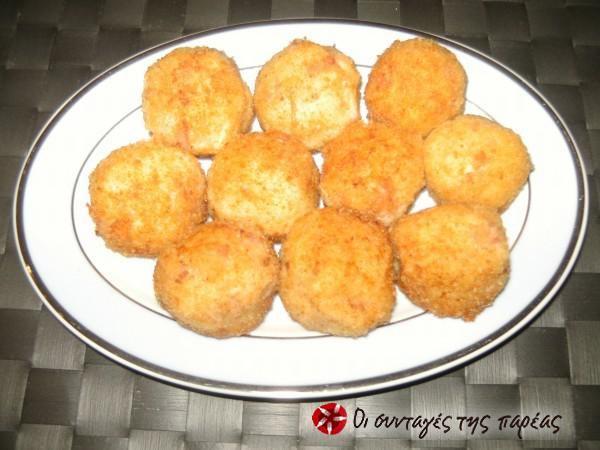 Πατατοκροκέτες με μπέικον και τυρί #sintagespareas