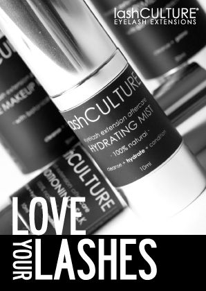 Love Your Lashes Campaign - Aftercare Card (Cover)