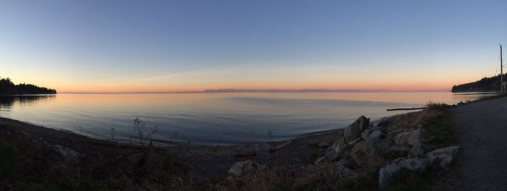 First sunrise with panorama.