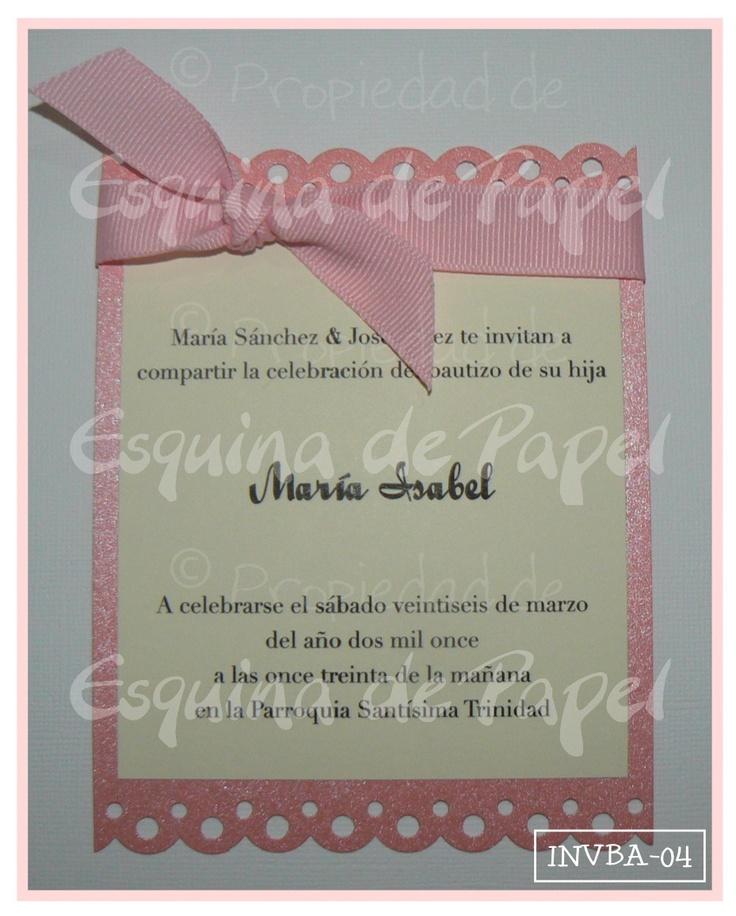 Detalle de la imagen de -Invitaciones de Bautizo & Primera Comunión | INVBA-04