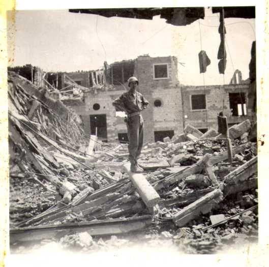 WWII - Verona - artillery damage - 1945