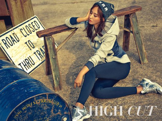 Yuri posing in a photo shoot for High Cut Magazine October Issue 2015.