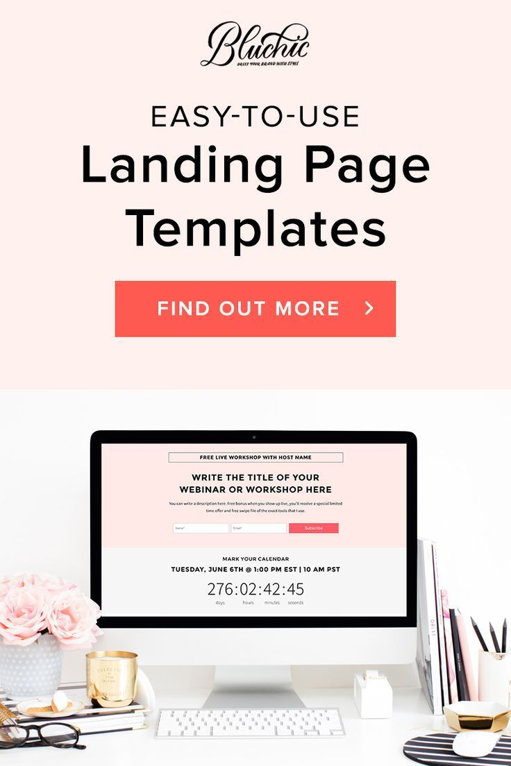 Simple easy to use landing page designs -- a cheaper and simpler alternative to Leadpages or ClickFunnels, other landing page options than Leadpages, Landing page designs, Landing page templates and ideas | Quick sales landing page templates