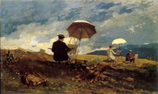 Artists Sketching In The White Mountains By Winslow Homer 1868