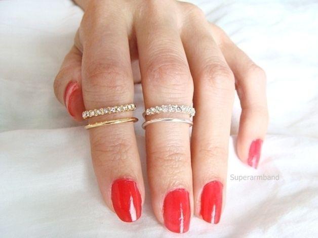 CZ knokkel Ring, Silber, Verstelbare ring van Superarmband op DaWanda.com