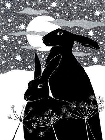 Christmas Hare~  Hare n the Moon~
