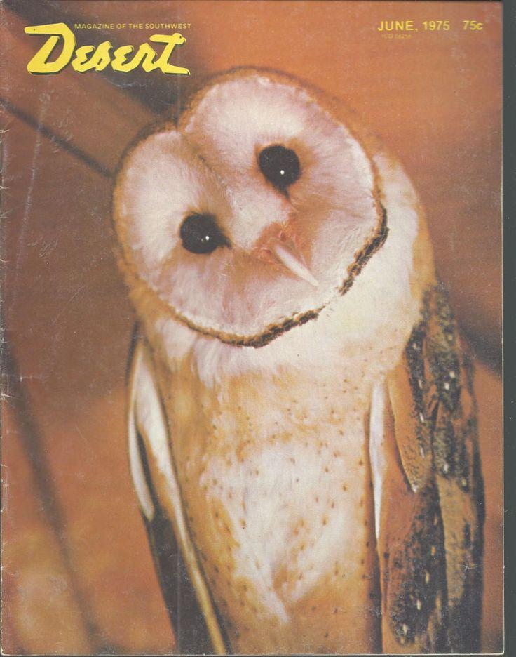 Barn Owl Squeaky Owls On Hat Desert Magazine June 1975 Palm Desert California   #doesnotapply