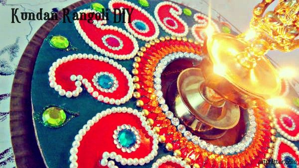 Kundan Rangoli this article contains step-by-step instructions for making this project