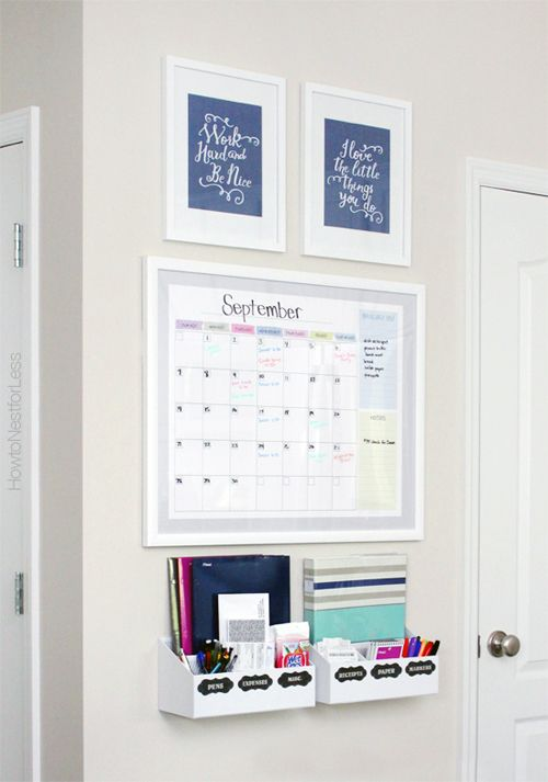 Sweet and simple organizing paired with a dash of color and you have the perfect combination for a clutter free coat closet.      The fabulo...