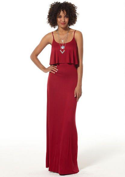 Jayne Knit Maxi Dress Extended Length - Tall Dresses - Dresses - Alloy Apparel