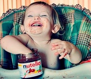 nutella ecstasyEating Nutella, Happy Baby, Funny, Children, Baby Girls, Future Kids, Things, Smile, Jars
