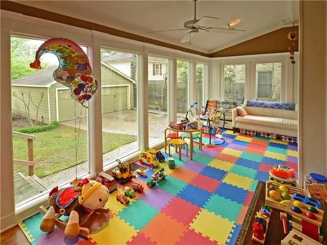 Kids playroom floor.