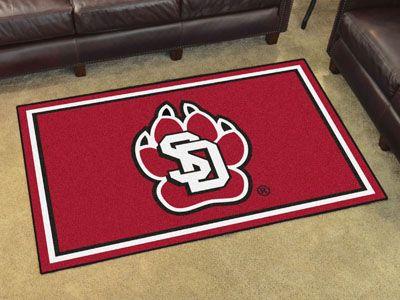 University of South Dakota 4x6 Rug