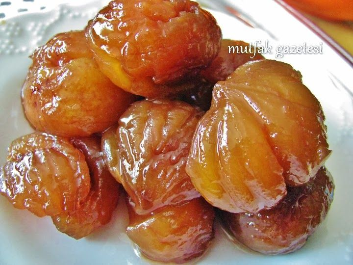 Candied chestnut -  kestane şekeri TURKISH FOOD..