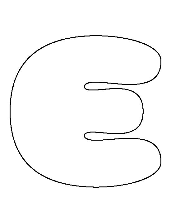 Bubble letter E pattern. Use the printable outline for ... The Letter E In Bubble Letters