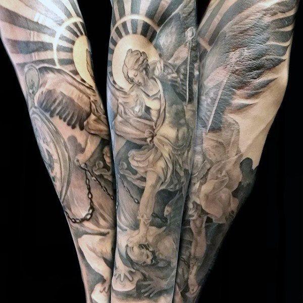 25 best ideas about archangel tattoo on pinterest angel sleeve tattoo devil tattoo and angel. Black Bedroom Furniture Sets. Home Design Ideas