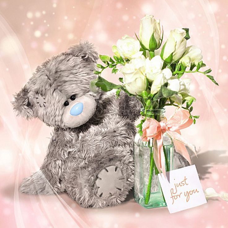 24 best me to you plain greeting cards images on pinterest bear 3d holographic just for you flowers me to you bear card 299 m4hsunfo