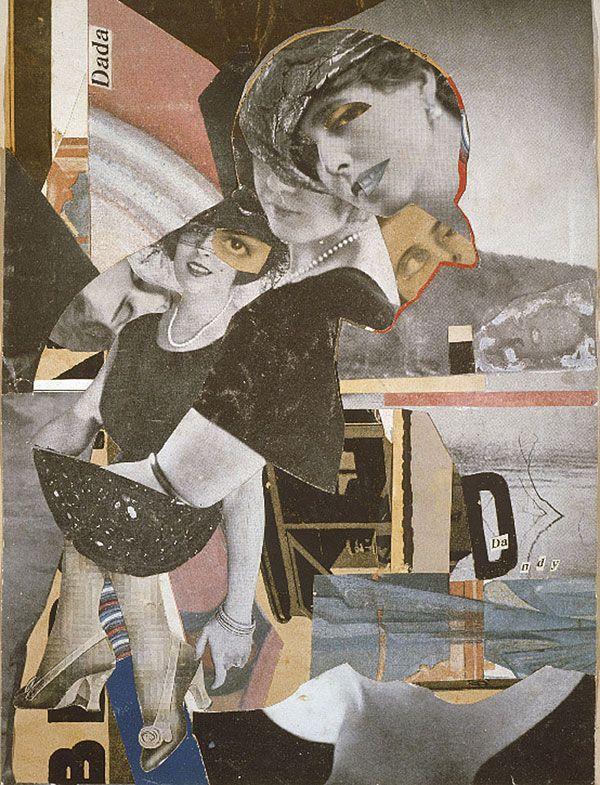 Hannah Höch, Da Dandy, 1919  Photomontage, 11 13/16 x 9 1/16 inches