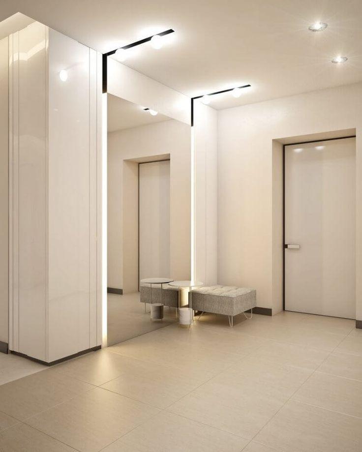 современная квартира в белом