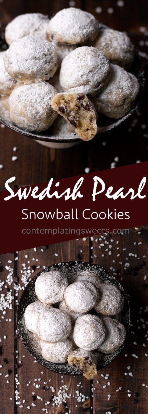 Swedish Pearl Snowball Cookies   Contemplating Sweets