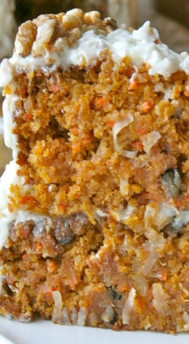 ❤️Pumpkin Carrot Cake, oh my gosh, what could be better?❤️