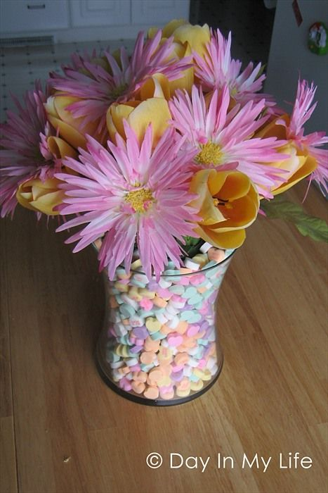 A Day In My Life: Candy Heart Centerpiece