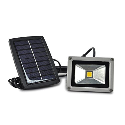 Lychee 10W Solar power LED Flood light High Power LED spotlight Waterproof Outdoor lamp (warm white)