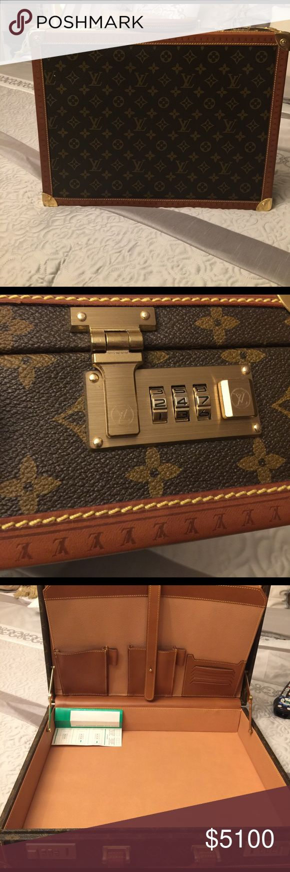 LOUIS VUITTON LV Vintage Monogram PRESIDENT LOUIS VUITTON LV Vintage Monogram PRESIDENT Hard Trunk Briefcase Attaché Case New Real Real Louis Vuitton Other