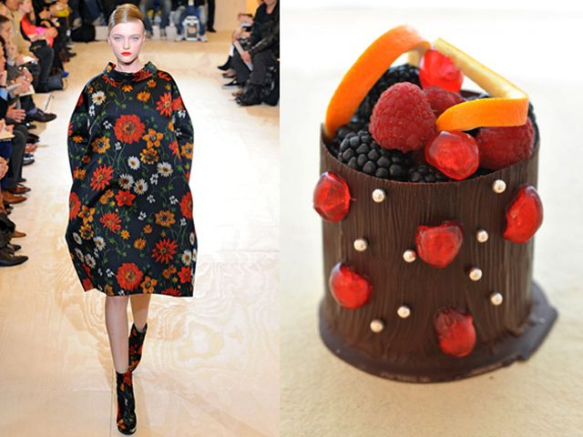 Jil Sander fw 2011-12 / Fruit inside a chocolate trunk