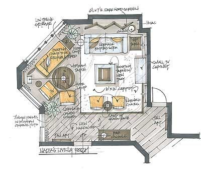 Interior Design Floor Plan Sketches