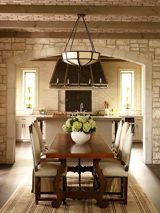 tuscan decor tuscan dining roomsformal dining roomsdining tablestraditional - Old Brick Dining Room Sets