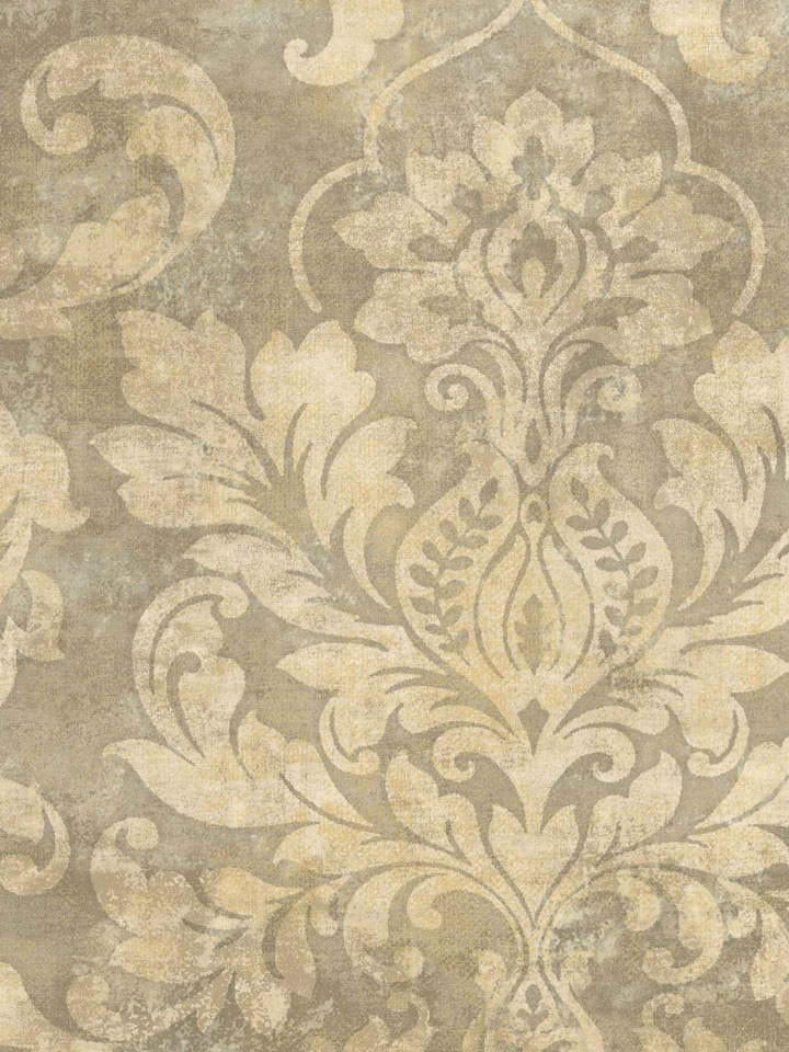 Interior Place Dark Beige Plaster Damask Wallpaper, 29