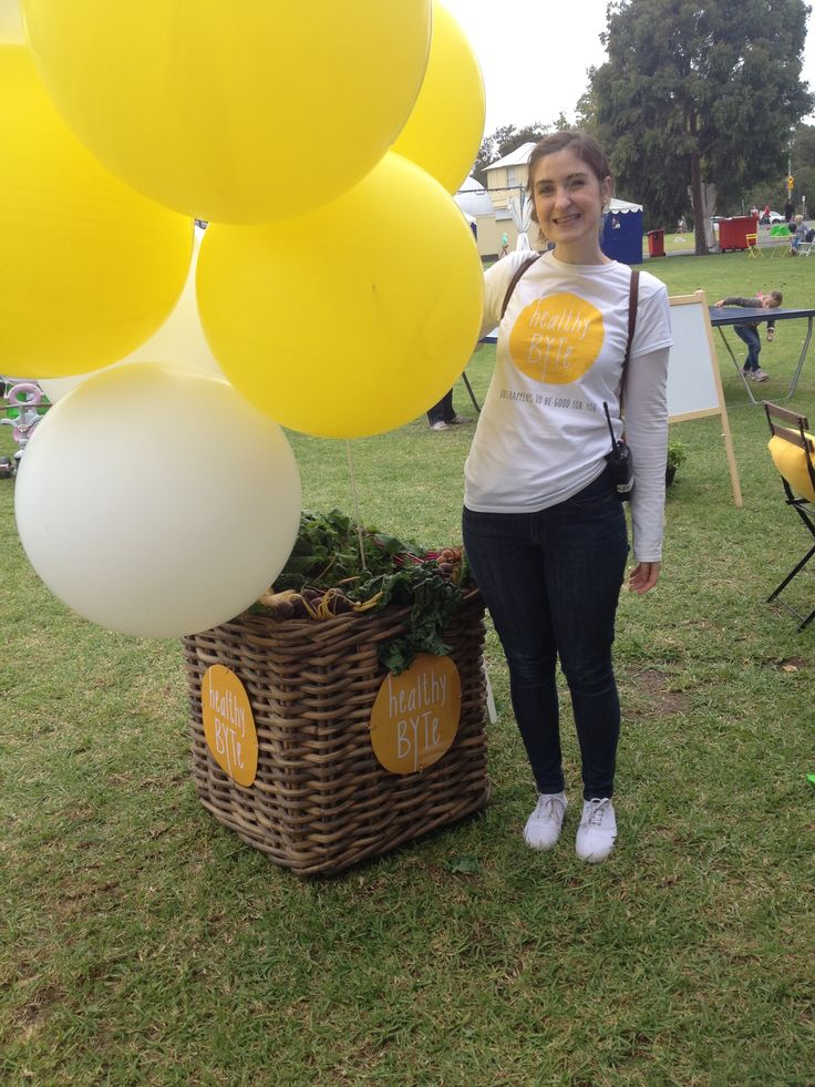 HealthyBYTer Anna at our activation area at Breakfast Around the Tan for MFWF @healthybyte