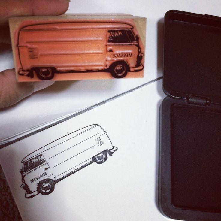 VW bus stamp