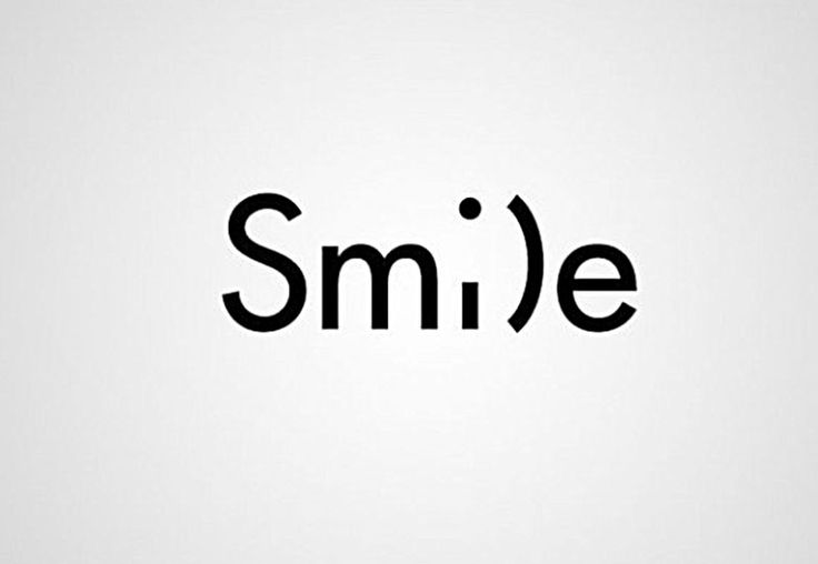 Smile word as image