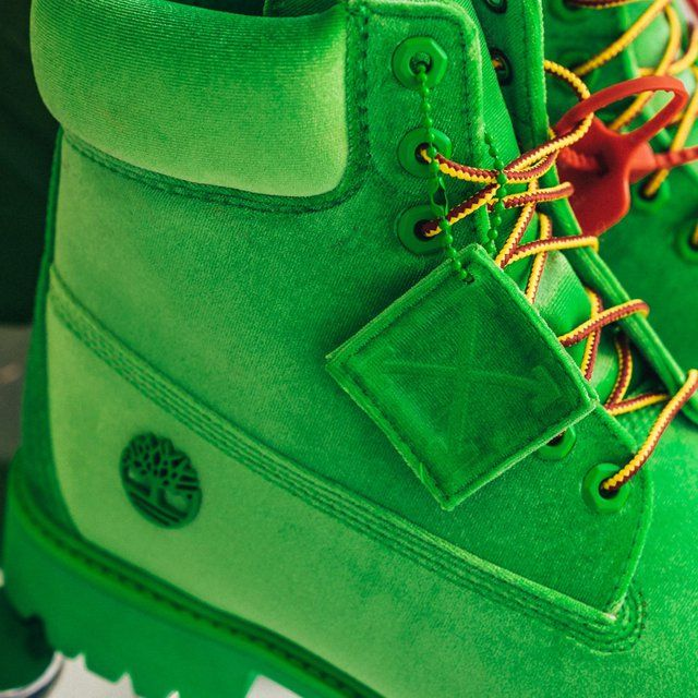 398976b1438 Off-White Green Timberland Edition 6 Inch Textile Boots in 2019 ...