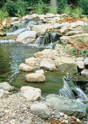 ponds...Water Landscapes, Cabin Landscapes Ideas, Gardens, Ponds Kkkk, Ponds Scum, Awesome Pin, Stream Landscapes, Beautiful Ponds, Ponds Ideas