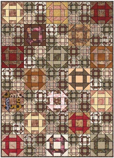 Churn Dash Quilt. It could be done in values that really bring out the diagonal lines of smaller churn dash blocks.