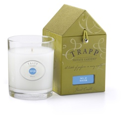 I am SUCH a candle snob - I only burn Trapp candles!!! my favorite - Trapp Candle No. 20 - Water