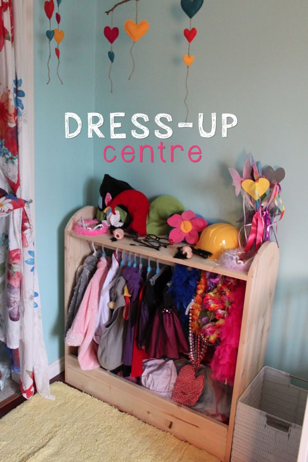 PJ Night Idea: Create a dress-up station for a quick outfit change #pjnight