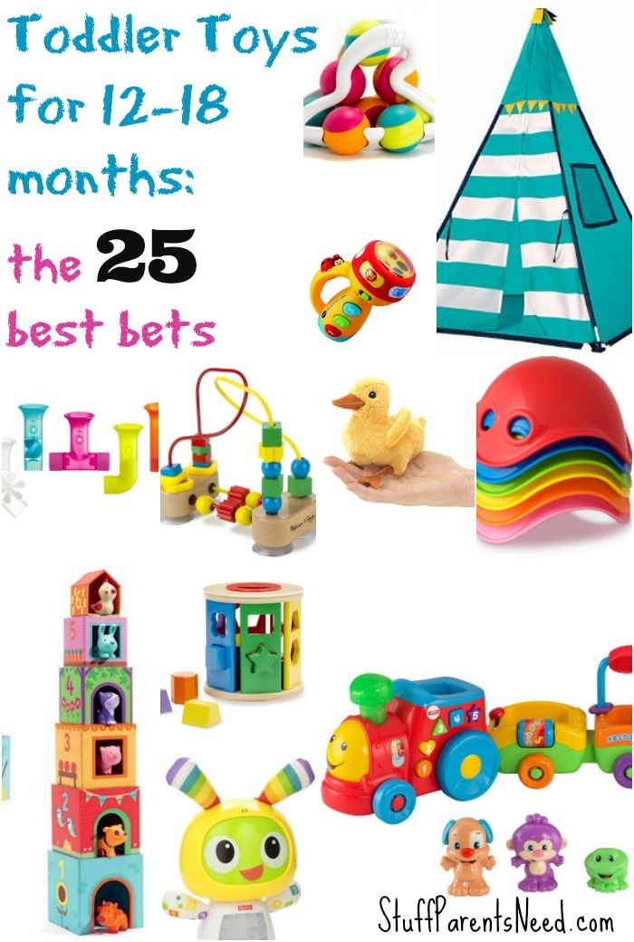 Searching for the best toddler toys for 12-18 month olds? It's a tricky age range but this list will help you find the perfect item! All picks affordably priced, too.