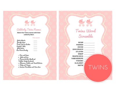 Twins Word Scramble Game, Celebrity Twins Names, TwinS, Twin Girls, Baby Words Scramble, Celebrity Baby Names, Twins Names, twn01, rat01